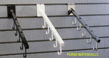 purse waterfall for slatwall accent store fixtures
